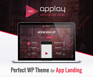 wordpress app landing theme